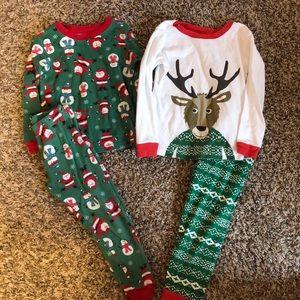 2 pairs of Christmas pajamas